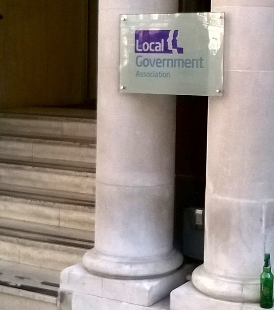 Photo of entrance to Local Government Association offices in London