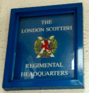Sign at London Scottish Regiment HQ in London