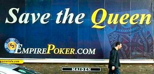 Photo of bookmakers street poster saying Save the Queen