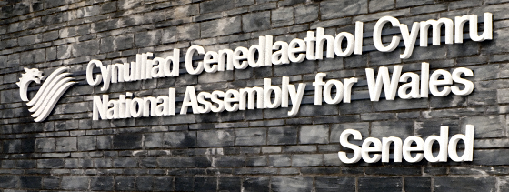 National Assembly for Wales sign